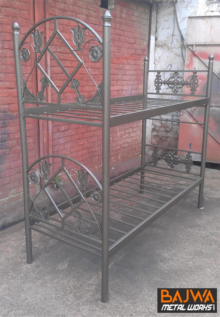 Fancy steel double decker bed