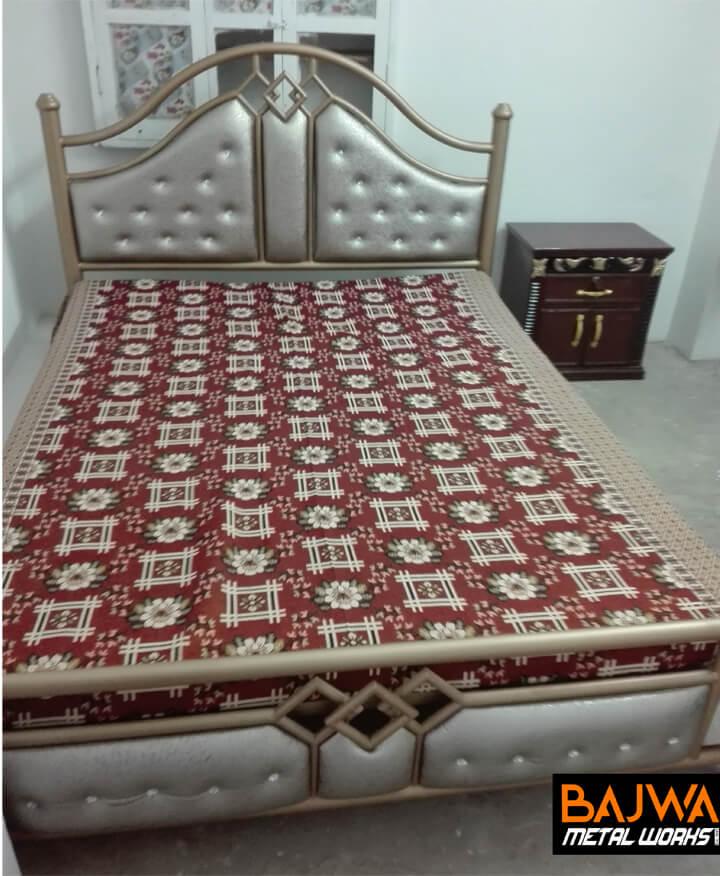Fancy steel poshish wedding double bed design