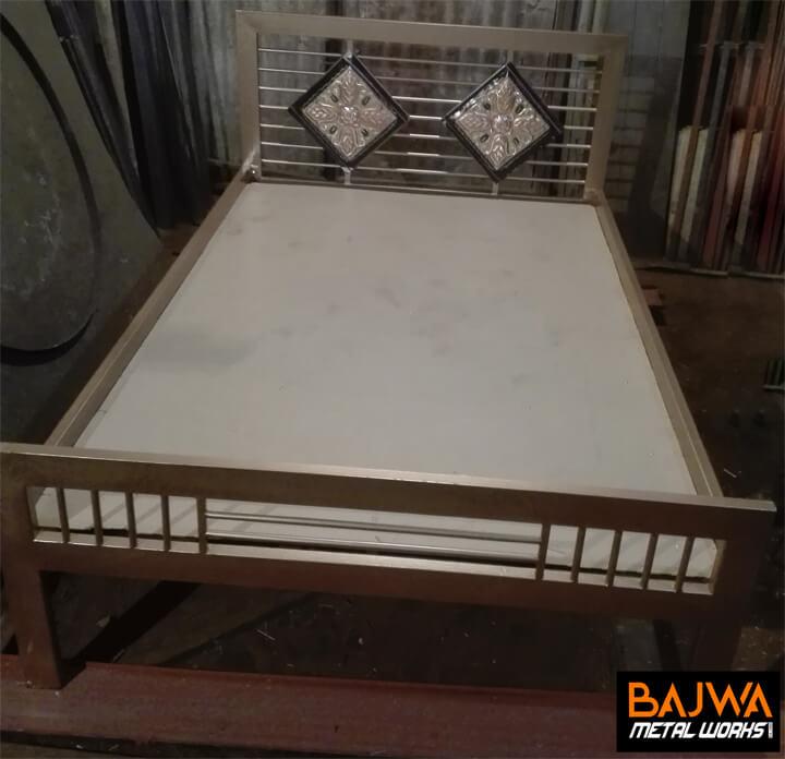 Fancy steel single bed decent