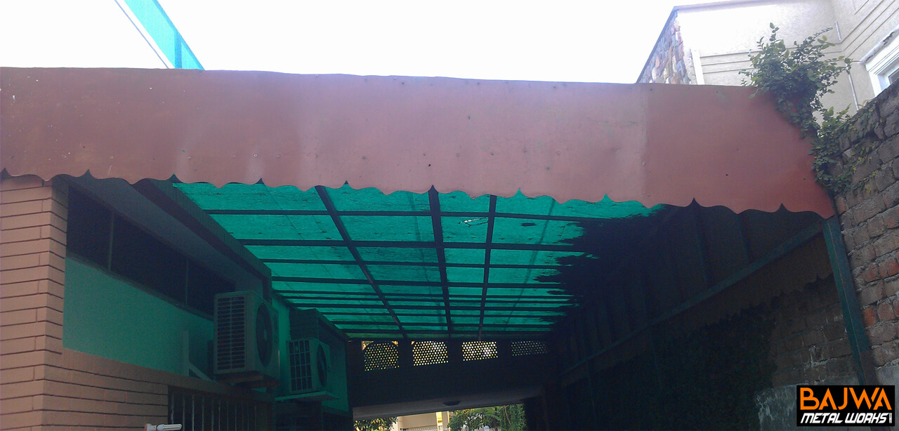 Fiberglass house car parking porch canopy