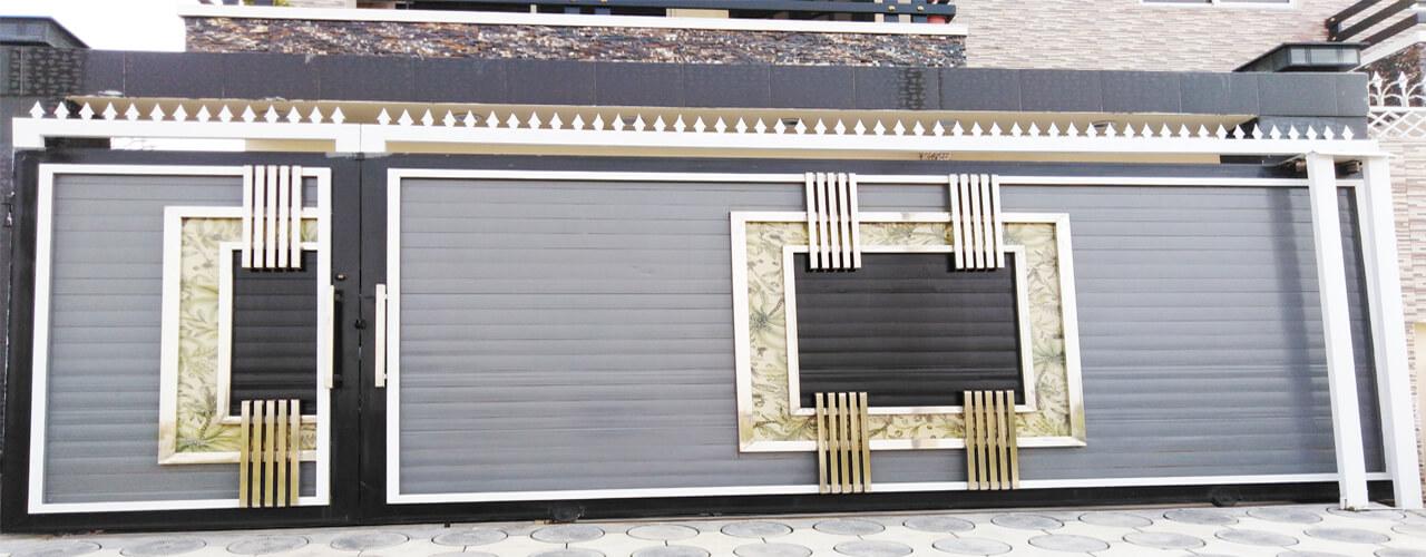 House metal modern entrance gate