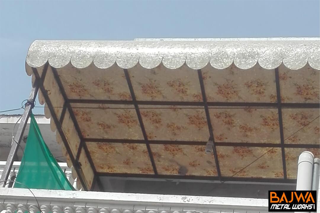 House terrace fiberglass metal frame canopy awning