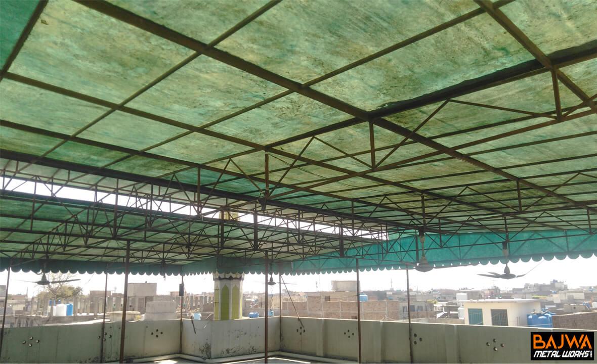 Masjid fiberglass canopy iron shed