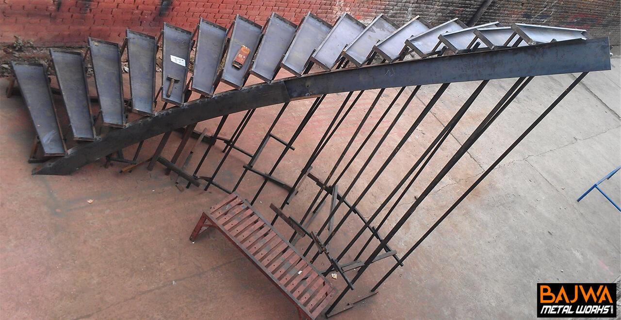 Modern round steel stair