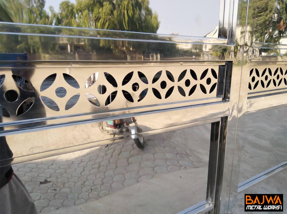 Stainless steel sheet metal pattern grill