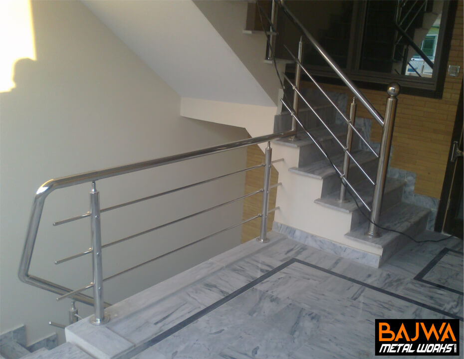 Stainless steel stair grill railing