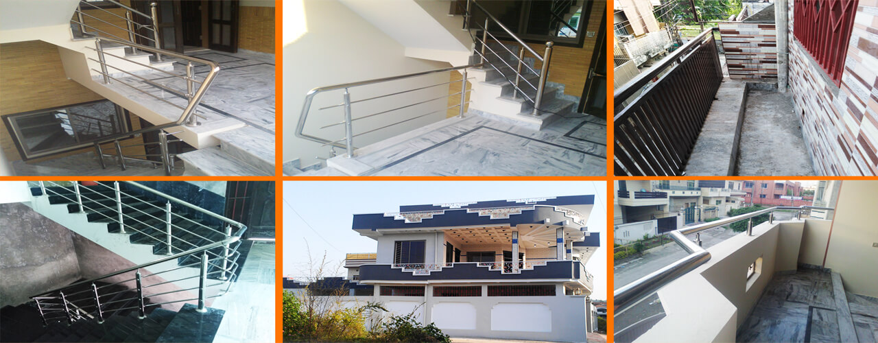 Stainless steel staircase railing designs