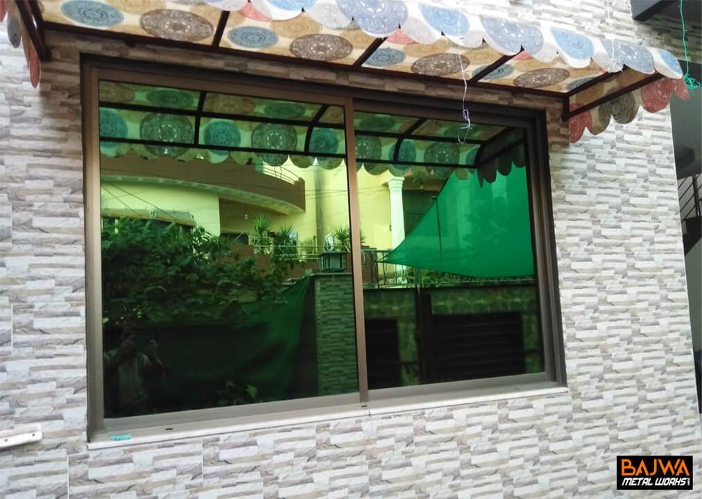 Steel Canopy window sliding frame