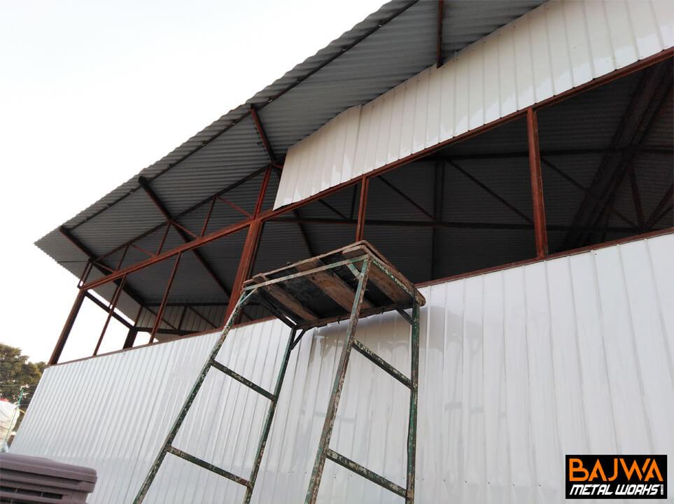 Steel prefab shed