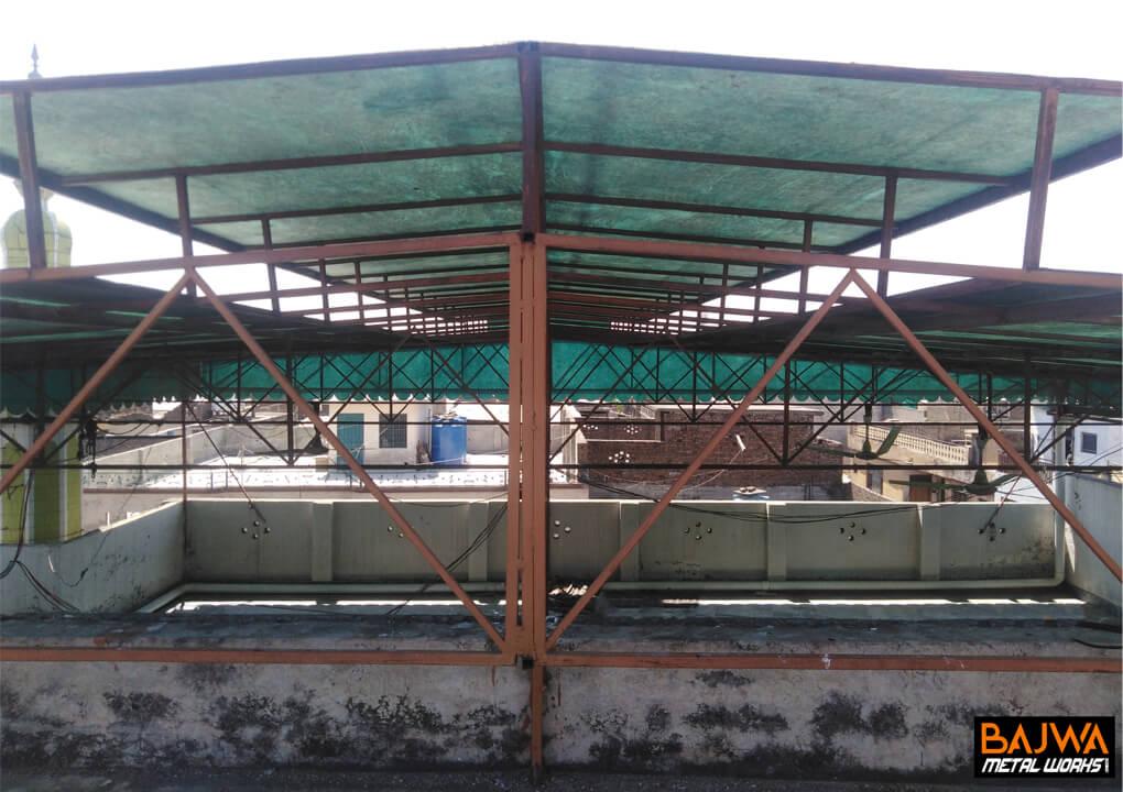 Steel structure fiberglasss open shed design