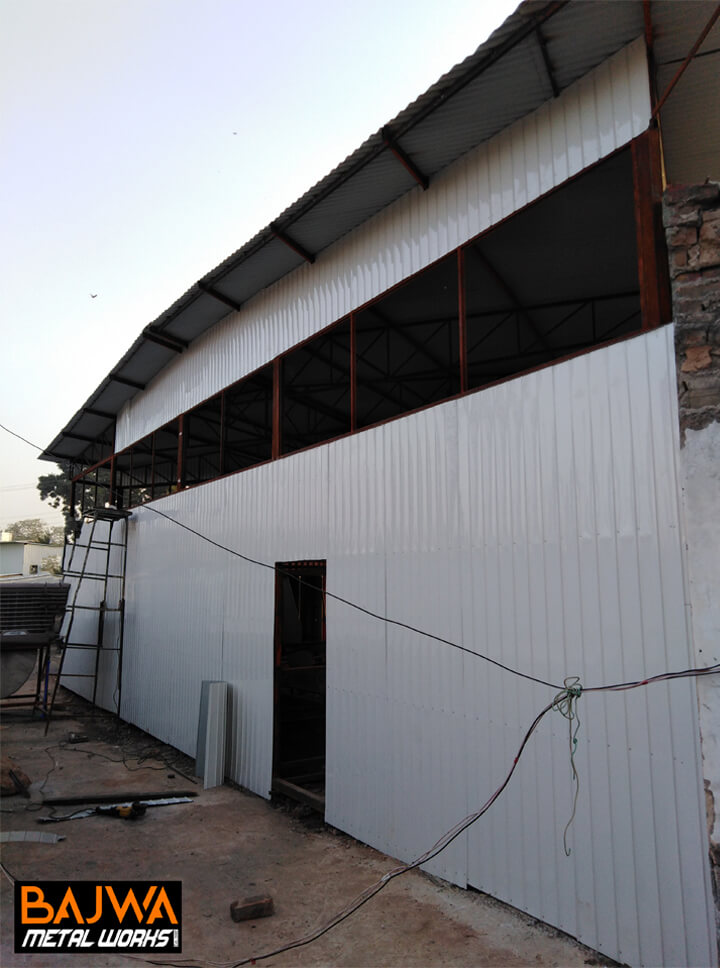 Storage steel shed structure