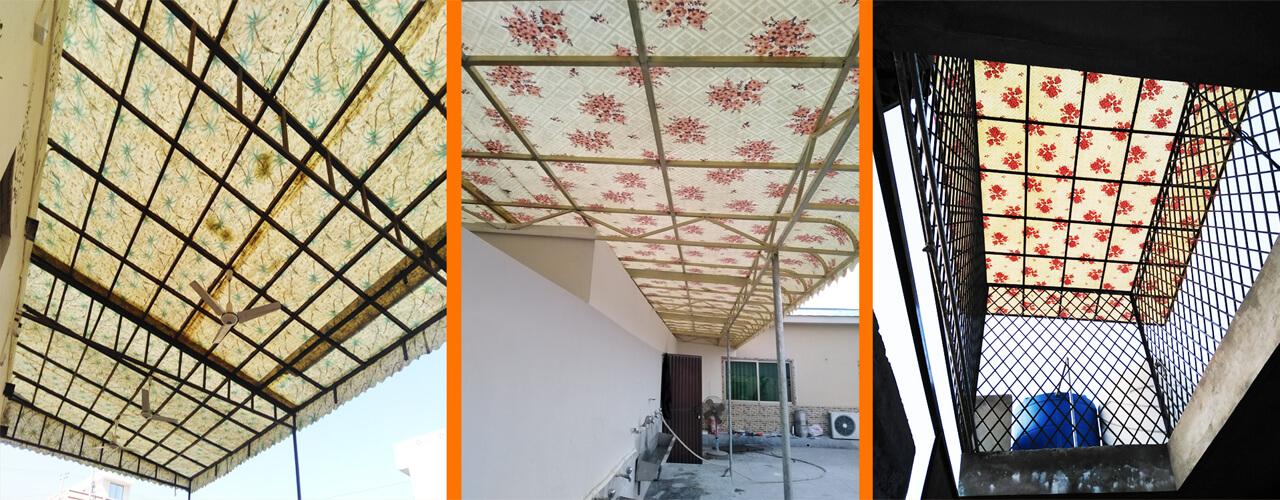 fiberglass metal awning canopy