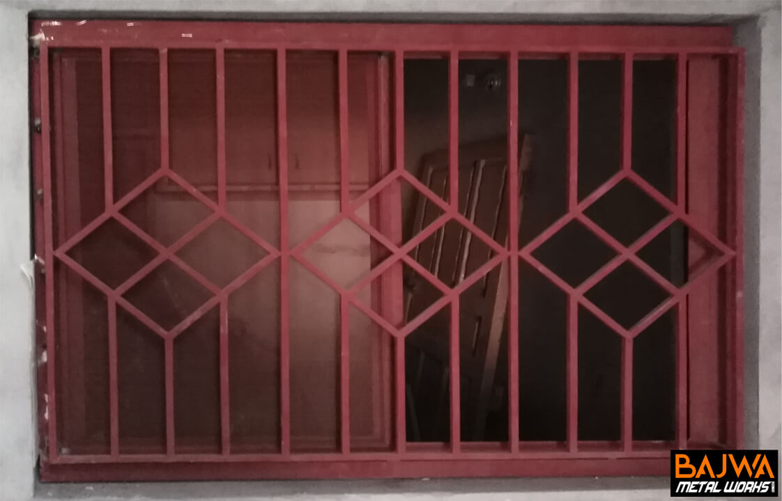 steel window grill design