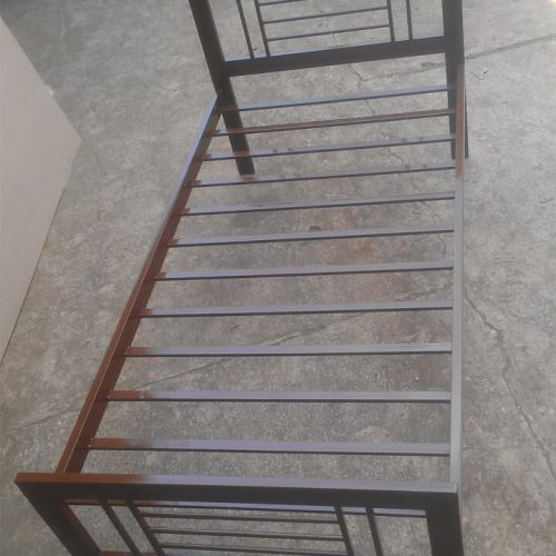 Brown steel Single bed for hostels