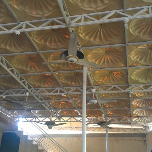 Fiberglass steel prefabricated canopy open shed idea
