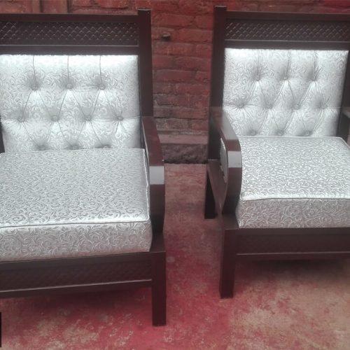 Steel single sofa chair design